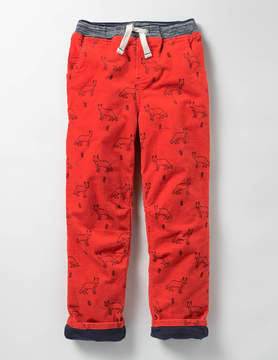 Boden Lined Cord Pull-on Pants