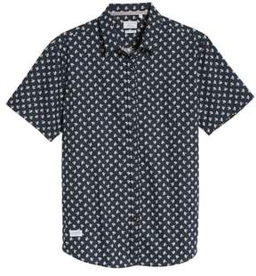 7 Diamonds 'Crossfire' Floral Print Short Sleeve Woven Shirt
