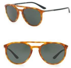 Giorgio Armani Honey Tortoise Aviator Lenses