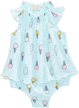 First Impressions Ice Cream-Print Cotton Skirted Sun Suit, Baby Girls (0-24 months), Created for Macy's
