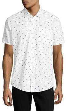 Report Collection Dolphin Tale Cotton Button-Down Shirt