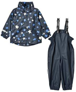 Ticket to Heaven Blue Provence Stars Rain Set With Detachable Hood