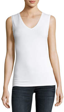 Neiman Marcus Majestic Paris for Soft Touch Sleeveless V-Neck