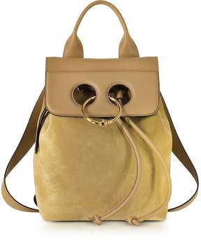 J.W.Anderson Gold Suede and Leather Mini Pierce Backpack
