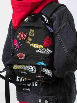 Vetements Mini embroidered backpack