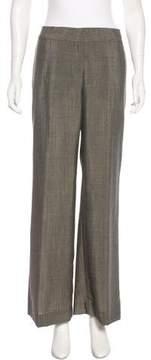 Agnona Wide-Leg Mid-Rise Pants