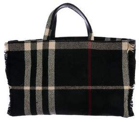 Burberry Check Tweed Tote