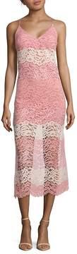 ABS by Allen Schwartz Women's Lace Midi Slip Dress