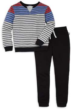 Splendid Boys' Striped Sweatshirt & Jogger Pants Set - Little Kid