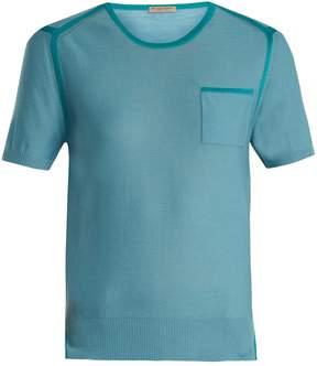 Bottega Veneta Round-neck short-sleeved wool-blend sweater
