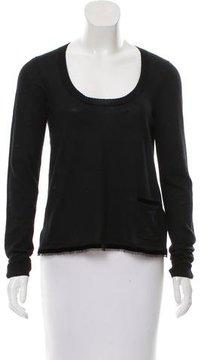 Christian Dior Knit Velvet-Trimmed Sweater