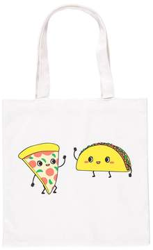 Forever 21 Taco & Pizza Graphic Tote