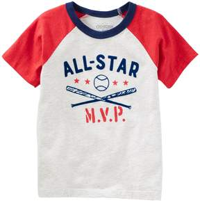 Osh Kosh Oshkosh Bgosh Toddler Boy All-Star MVP Baseball Raglan Tee