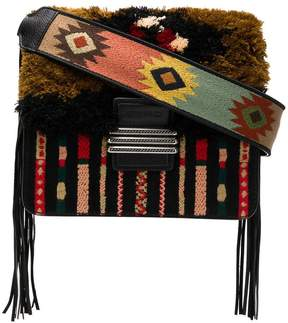 Etro fringed rainbow shoulder bag