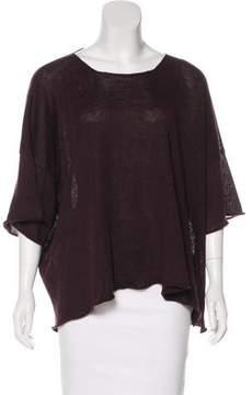 eskandar Linen Bateau Neck Sweater