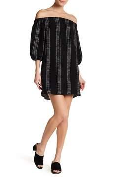 Collective Concepts Off-the-Shoulder Short Sleeve Shift Dress