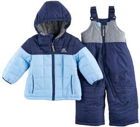 ZeroXposur Baby Boy Heavyweight Quilted Jacket & Bib Overall Snow Pants Set
