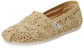 Toms Women's Alpargata Metallic Crochet Slip-On