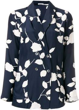 P.A.R.O.S.H. floral print double breasted blazer