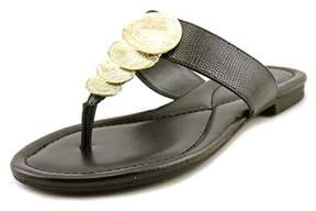 Alfani Harlquin Women Open Toe Synthetic Black Thong Sandal.