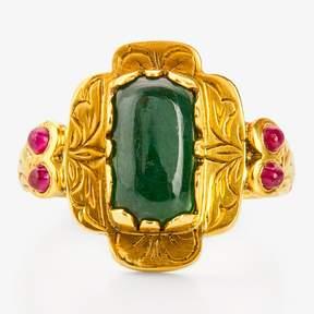 Amrapali Emerald Cabochon Ring Gold