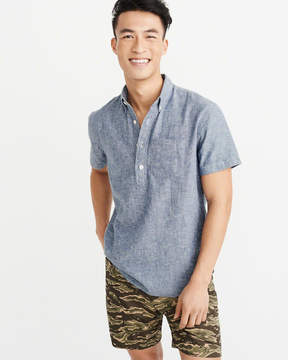 Abercrombie & Fitch Short-Sleeve Popover Shirt