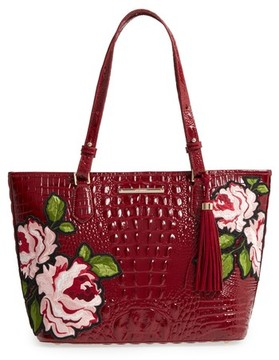 Brahmin Rossini Medium Asher Leather Tote - Red