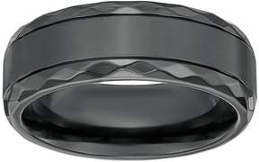 Lynx LYNXMen's Black Zirconium Geometric Band