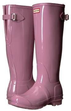 Hunter Back Adjustable Gloss Rain Boots Women's Rain Boots