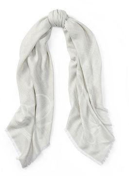 Ralph Lauren Stirrup Silk-Wool Scarf