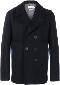 Closed double breasted peacoat