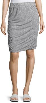 Allen Allen Ruched-Side Jersey Skirt