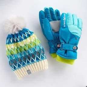 ZeroXposur Girls 4-16 Nikki Fleece Gaiter Gloves & Hat Set