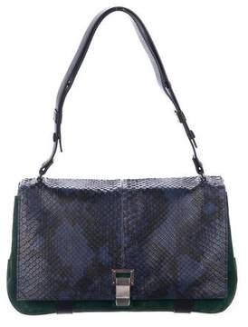 Proenza Schouler Snakeskin Courier Shoulder Bag
