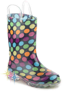 Western Chief Girls Darling Dot Toddler & Youth Light-Up Rain Boot