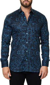 DAY Birger et Mikkelsen Maceoo Shaped-Fit Luxor Webspread Sport Shirt