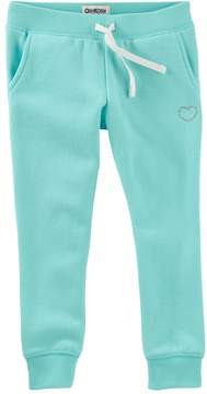 Osh Kosh Oshkosh Bgosh Girls 4-12 Teal Embroidered Knit Pants