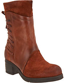 Miz Mooz As Is Leather & Suede Mid Calf Boots- Sakinah
