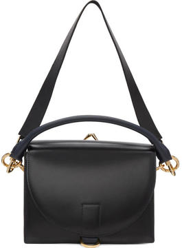 Sacai Black Leather Satchel
