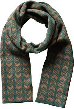 Portolano Men's Green Gypsy Chevron Wool & Cashmere-Blend Scarf