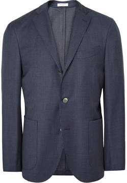 Boglioli Blue Dover Slim-Fit Puppytooth Virgin Wool Suit Jacket