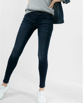Express mid rise stretch+ supersoft ankle jean leggings