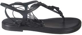 Ann Demeulemeester Braided Flat Sandals