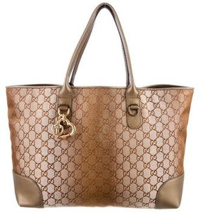Gucci Heart Bit Tote - BROWN - STYLE
