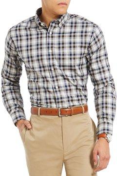 Daniel Cremieux Signature Non-Iron Royal Oxford Heather Check Long-Sleeve Woven Shirt