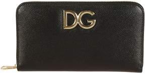 Dolce & Gabbana Logo Zip Around Wallet - BLACK - STYLE