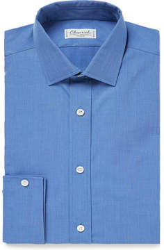 Charvet Blue Slim-Fit Cotton Shirt