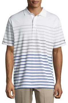 Callaway Opti-Dri Heathered Stripe Short Sleeve Polo Golf Shirt