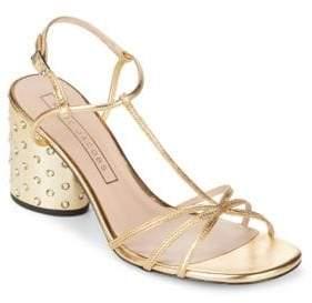 Marc Jacobs Sheena Metallic Leather Embellished Sandals