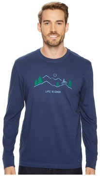 Life is Good Mountain Bike Vista Long Sleeve Crusher Tee Men's Long Sleeve Pullover